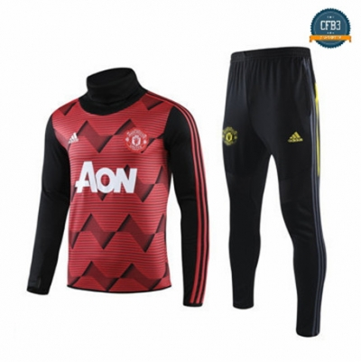 Cfb3 Camisetas B031 - Chandal Manchester United Rojo/Negro 2019/2020