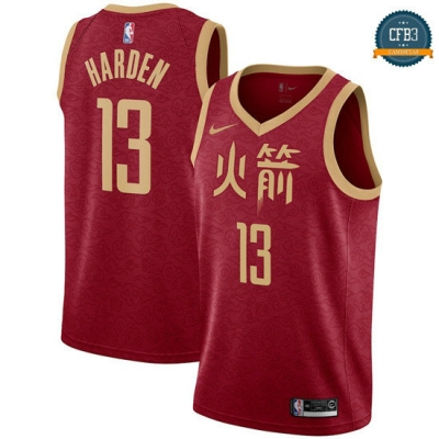 cfb3 camisetas James Harden, Houston Rockets 2018/19 - City Edition