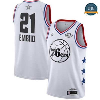 cfb3 camisetas Joel Embiid - 2019 All-Star Blanco