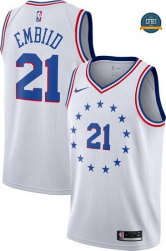 cfb3 camisetas Joel Embiid, Philadelphia 76ers - Earned Edition