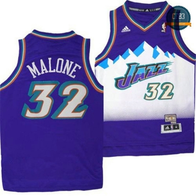 cfb3 camisetas Karl Malone, Utah Jazz [Purple]