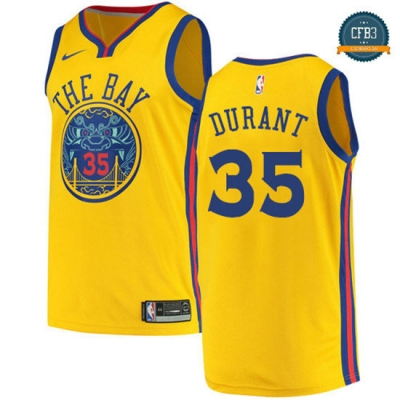 cfb3 camisetas Kevin Durant, Golden State Warriors - City Edition