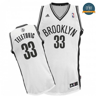 cfb3 camisetas Mirza Teletovic, Brooklyn Nets - Blanco