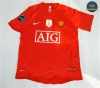 Camiseta 2007-08 sleeve UCL final Manchester United