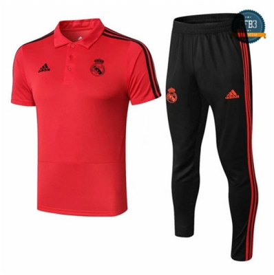 Camiseta Real Madrid POLO Entrenamiento Rojo 2018/2019