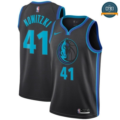cfb3 camisetas Dirk Nowitzki, Dallas Mavericks 2018/19 - City Edition
