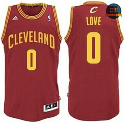 cfb3 camisetas Kevin Love, Cleveland Cavaliers - Wine