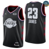 cfb3 camisetas LeBron James - 2019 All-Star Negro