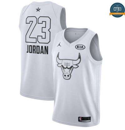 cfb3 camisetas Michael Jordan - 2018 All-Star Blanco