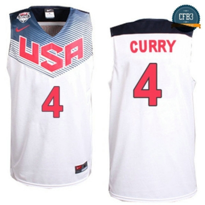 cfb3 camisetas Stephen Curry, USA 2014 - Blanca