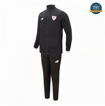 Cfb3 Camisetas B013 - Chaqueta Chandal Athletic Bilbao Negro 2019/2020