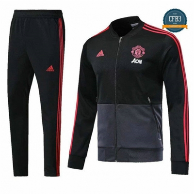 Chaqueta Chándal Manchester United Negro/Gris 2018