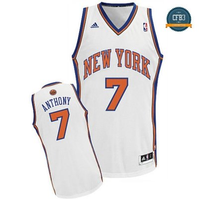cfb3 camisetas Carmelo Anthony, New York Knicks [Blanco]