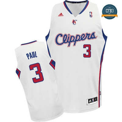 cfb3 camisetas Chris Paul, Los Angeles Clippers [Blanco]