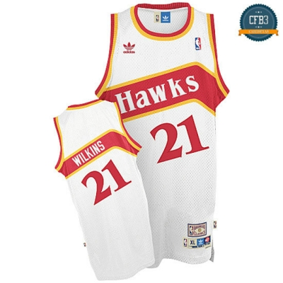 cfb3 camisetas Dominique Wilkins, Atlanta Hawks [Primera]
