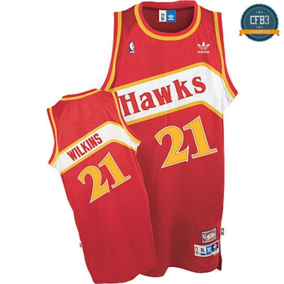 cfb3 camisetas Dominique Wilkins, Atlanta Hawks [Road]