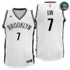 cfb3 camisetas Jeremy Lin, Brooklyn Nets - Blanco