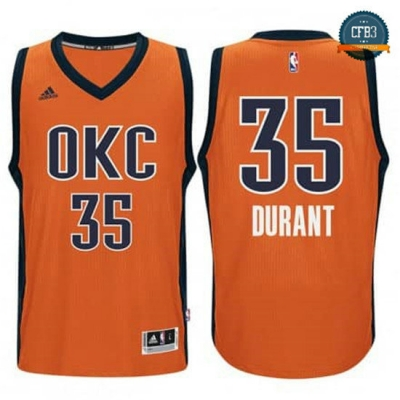 cfb3 camisetas Kevin Durant, OKC Alternate - Sunset