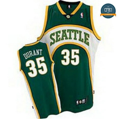 cfb3 camisetas Kevin Durant, Seattle SuperSonics [Verde]