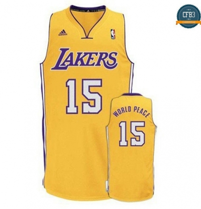 cfb3 camisetas Metta World Peace, Los Angeles Lakers [Dorada]