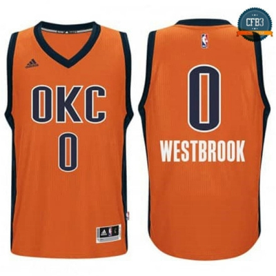 cfb3 camisetas Russell Westbrook, OKC Alternate - Sunset