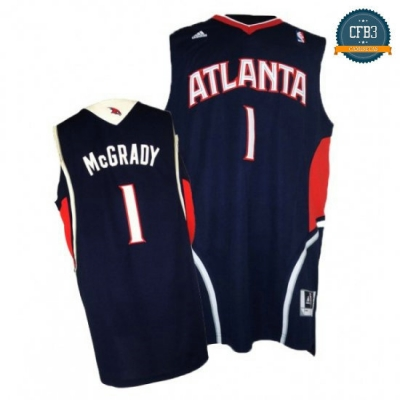 cfb3 camisetas Tracy McGrady, Atlanta Hawks [Azul]