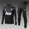 Chándal Manchester United Gris Oscuro 2017 Cuello alto