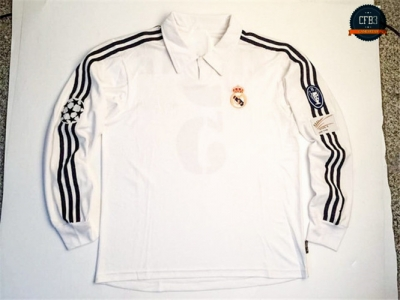 Camiseta 2002-03 UCL final Real Madrid Manga Larga