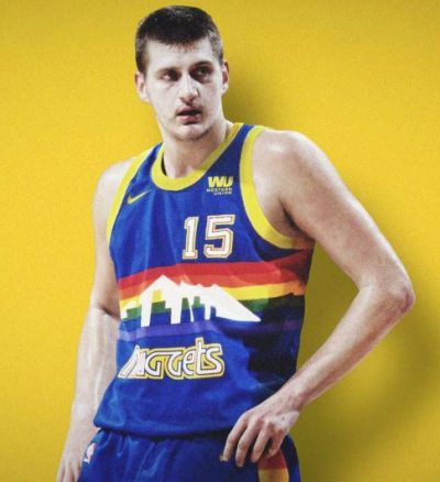 cfb3 camisetas Nikola Jokic, Denver Nuggets - Retro