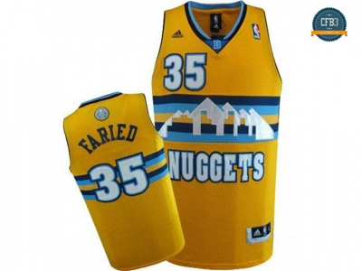 cfb3 camisetas Kenneth Faried, Denver Nuggets [Amarilla]