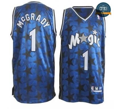 cfb3 camisetas Tracy McGrady, Orlando Magic [Azul Stars]