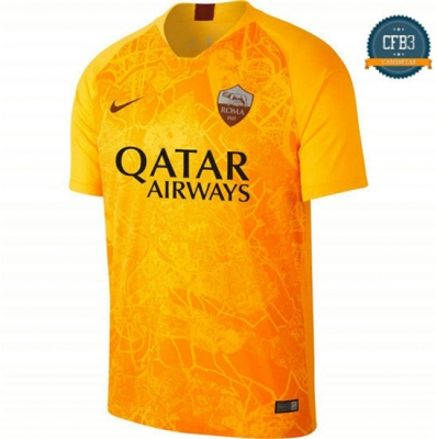 Camiseta AS Rome 3ª Equipación Amarillo 2018