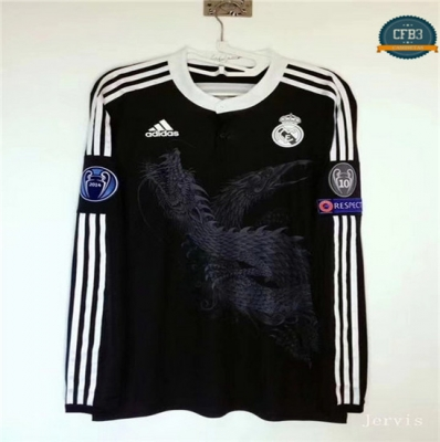 Camiseta 2014-15 Real Madrid Manga Larga 3ª Equipación