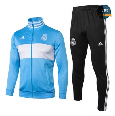 Chaqueta Chándal Real Madrid Azul 2018 Clair/Blanco