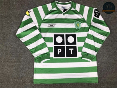 Camiseta 2003 Lisbon home Manga Larga