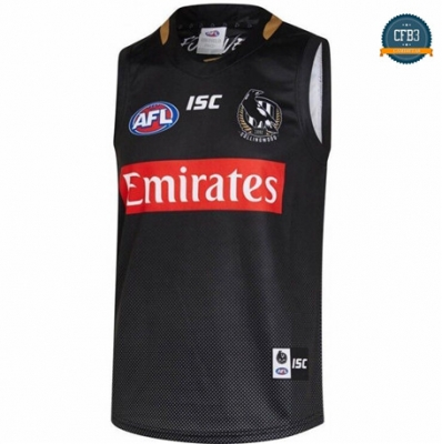 Cfb3 Camiseta AFL Collingwood Magpies Rugby 2019/2020 Negro