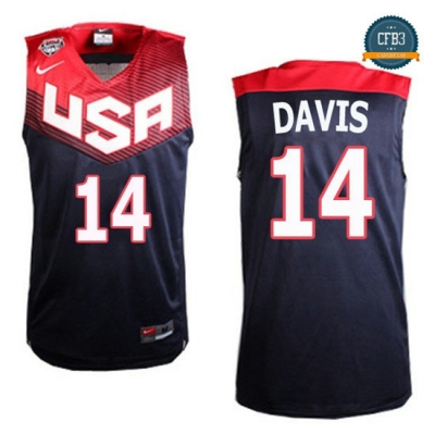 cfb3 camisetas Anthony Davis, USA 2014 - Azul