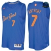 cfb3 camisetas Carmelo Anthony, New York Knicks - Christmas '17