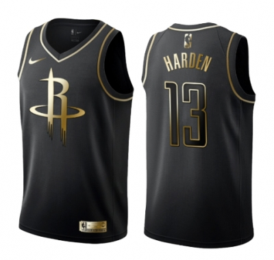 James Harden, Houston Rockets - Black/Gold