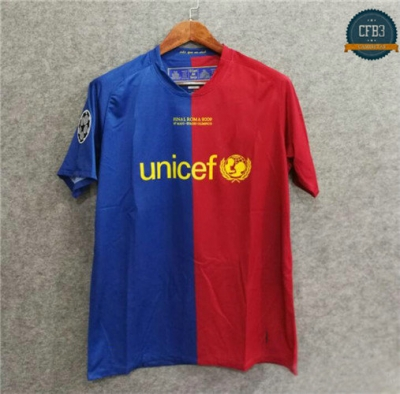 Camiseta 2008-09 UCL final Barcelona