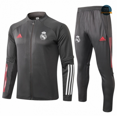 Cfb3 Chaqueta Chandal Real Madrid Gris oscuro 2020/2021