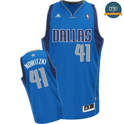 cfb3 camisetas Dirk Nowitzki Dallas Mavericks [Azul]