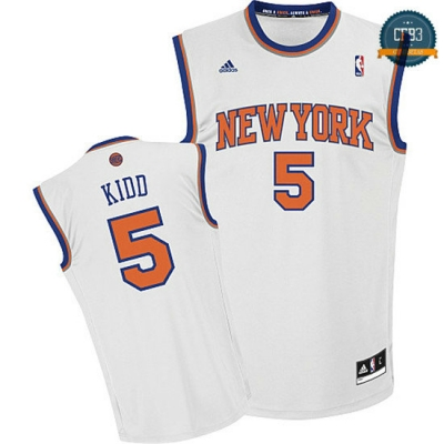 cfb3 camisetas Jason Kidd, New York Knicks [Blanco]