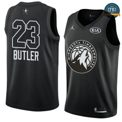 cfb3 camisetas Jimmy Butler - 2018 All-Star Negro