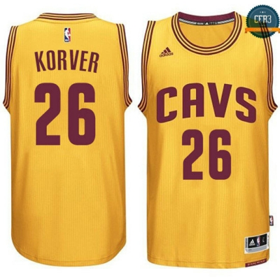 cfb3 camisetas Kyle Korver, Cleveland Cavaliers - Gold