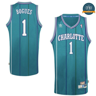 cfb3 camisetas Muggsy Bogues, Charlotte Hornets [Road]