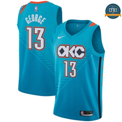cfb3 camisetas Paul George, Oklahoma City Thunder 2018/19 - City Edition