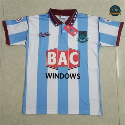 Cfb3 Camisetas Retro 1991-92 West Ham United Equipación 2ª