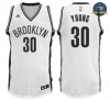 cfb3 camisetas Thaddeus Young, Brooklyn Nets - Blanco