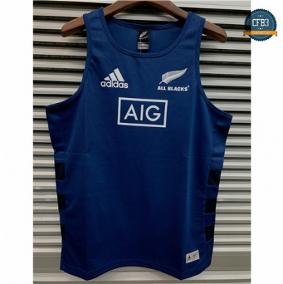 Cfb3 Camiseta Chaleco Rugby All Blacks 2019/2020 Azul Oscuro